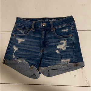 American Eagle Outfitters jean shorts with rips